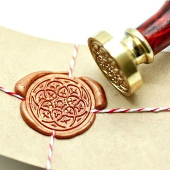 Complete packaging with a beautiful wax seal