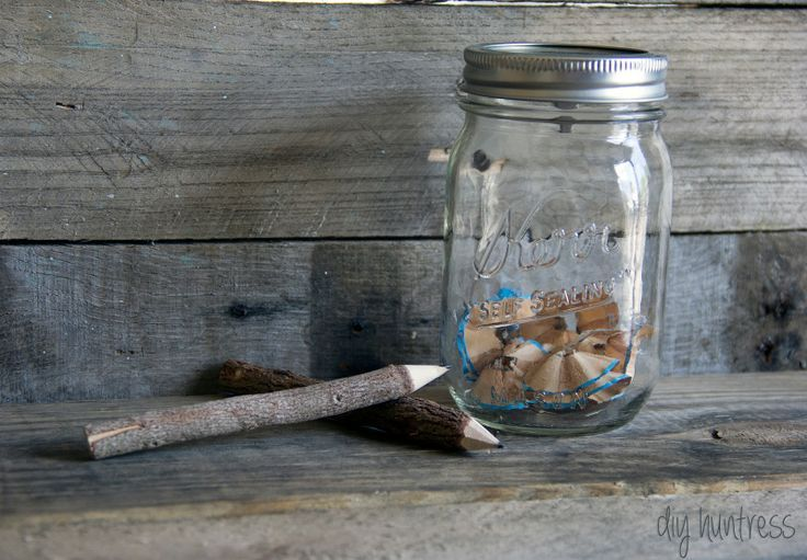 DIY Huntress: DIY Mason Jar Pencil Sharpener