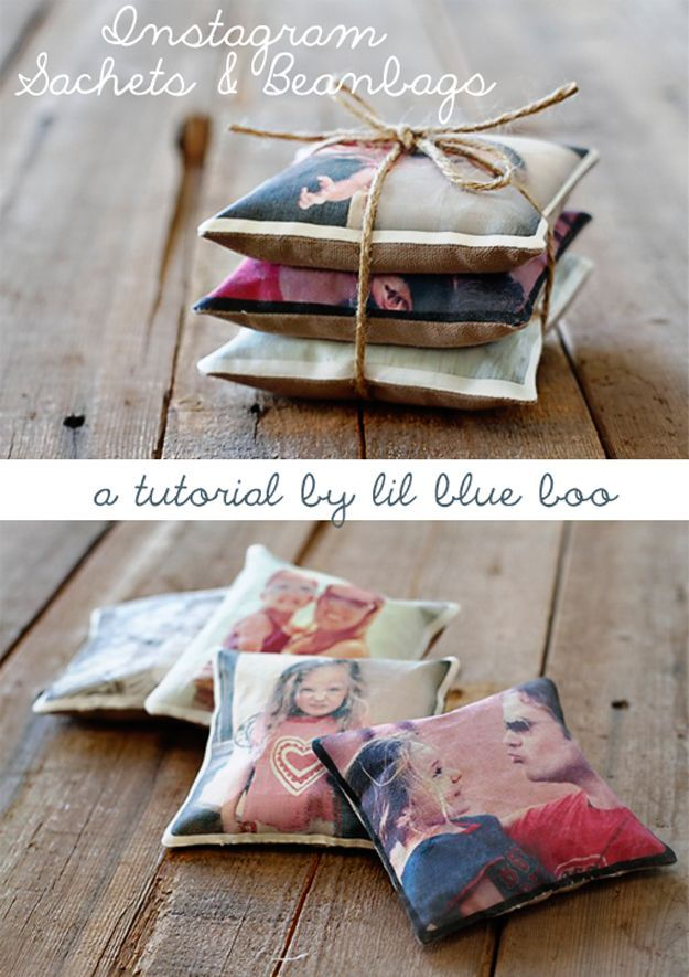 DIY Instagram Sachets and Bean Bags | Inexpensive Personalized Mother's Day Gift...