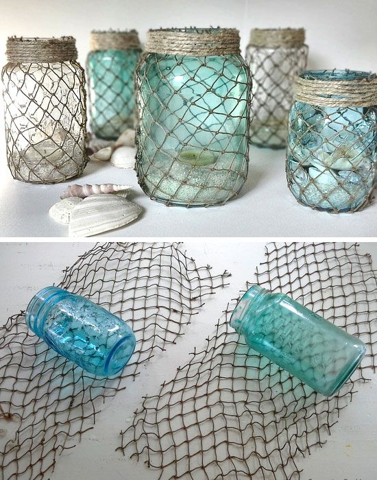 Gift Wrapping Ideas: Decorative Fisherman Netting Wrapped ...