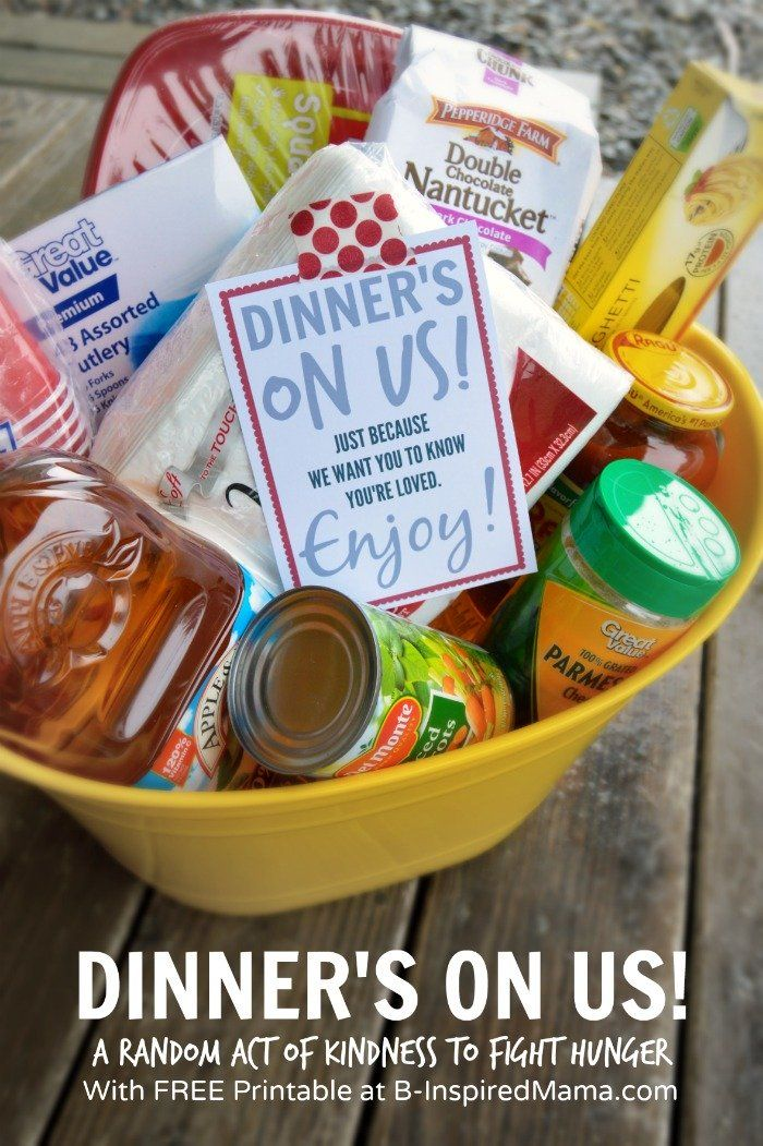 Dinner's On Us! - A Simple Share A Meal Random Act of Kindness - with a FREE Pri...