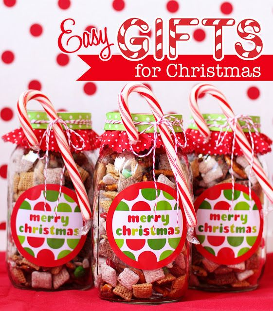 Great idea - fave snack mix in a mason jar with a label/tag for something festiv...