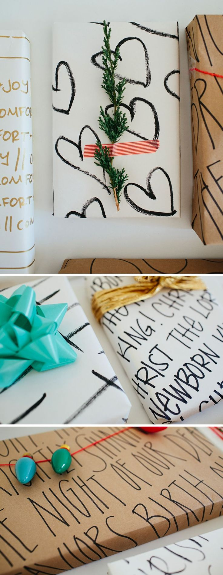 DIY Wrapping Paper // Christmas party?