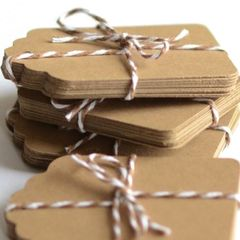 Kraft Tags for Gift Wrapping