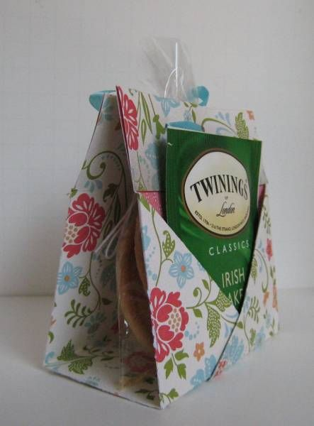 Tea and Cookies Holder Card 2 by Sweet Irene (great idea!) - could use as a part...