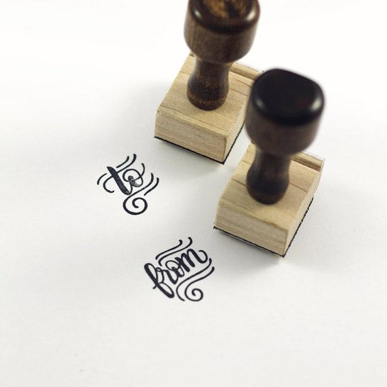 To And From Set - Hand Lettered Stamp, perfect to add a little fun to your envel...