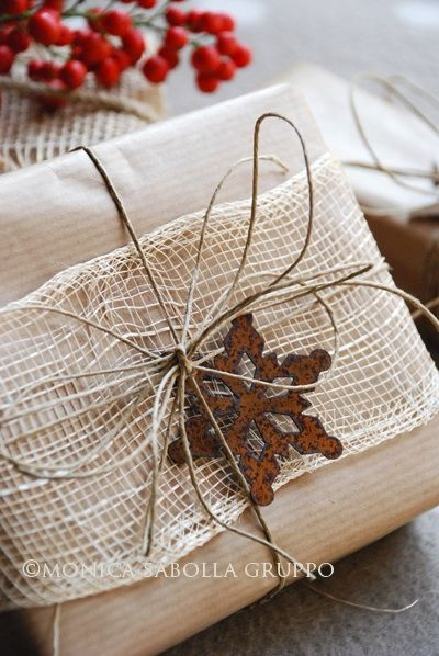 Wrapping with Burlap