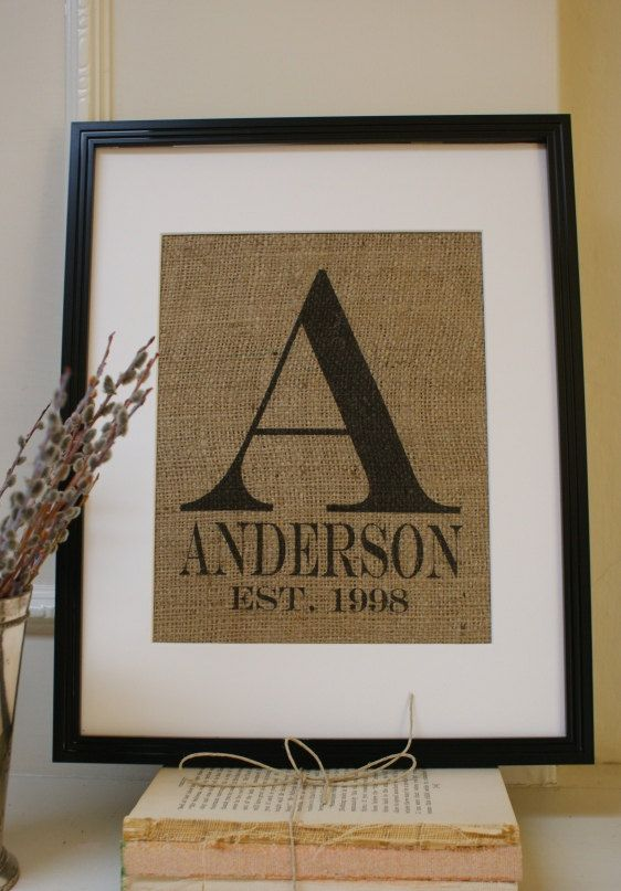 painted burlap...must get paint, stencils, and frames...these could be really cu...