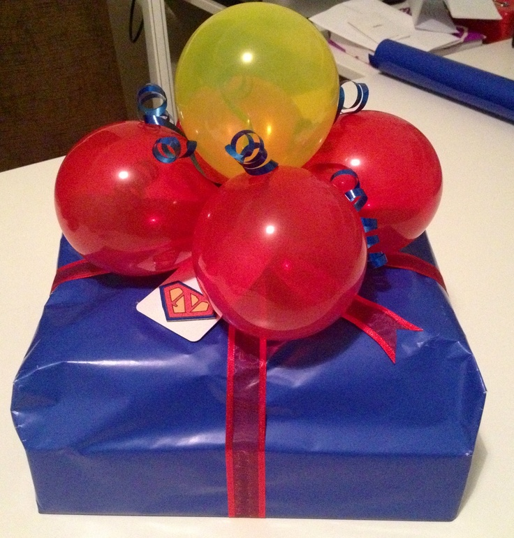 Balloons In A Wrap For Birthday