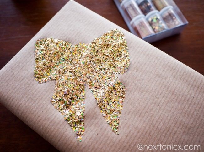 Glitter Bow Wrapping |