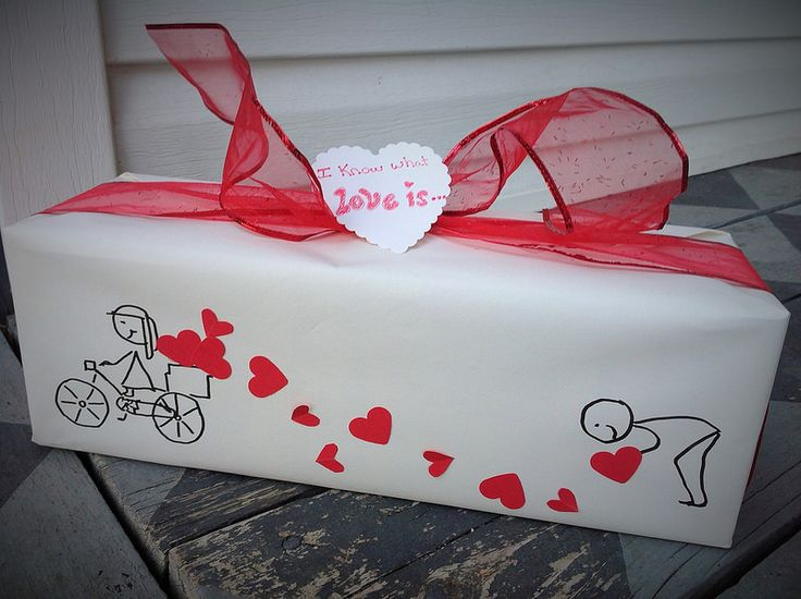 Valentine Gift Wrap, sooo cute!!