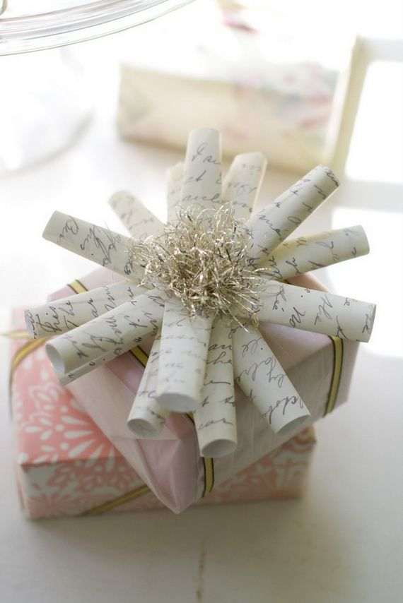 Written paper bow