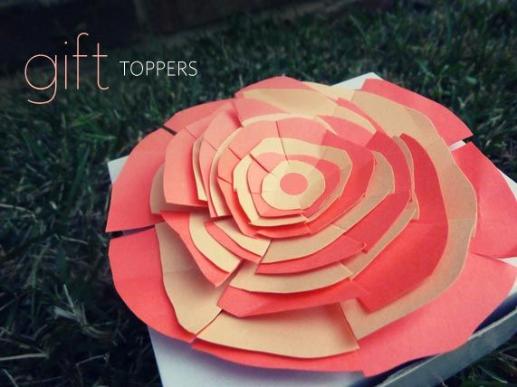 big paper rose for great package