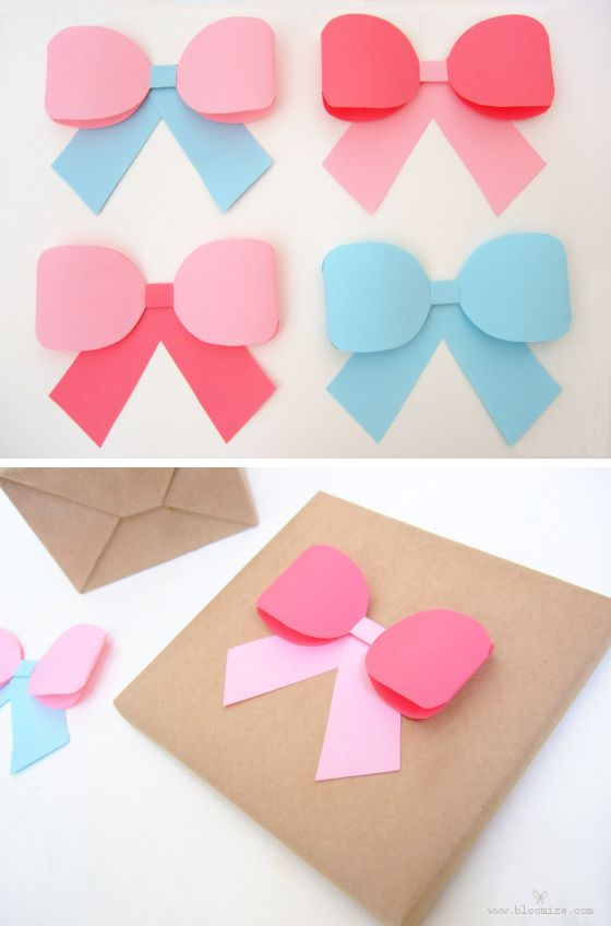 paper ribbon bow gift topper