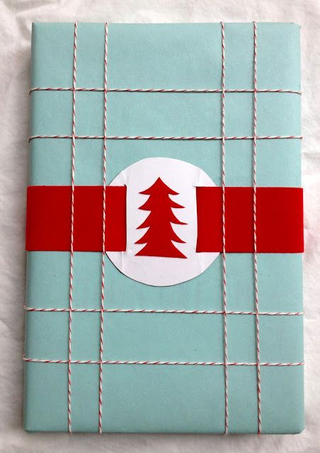 turquoise and red Christmas wrapping  -- This would be great for a package that ...