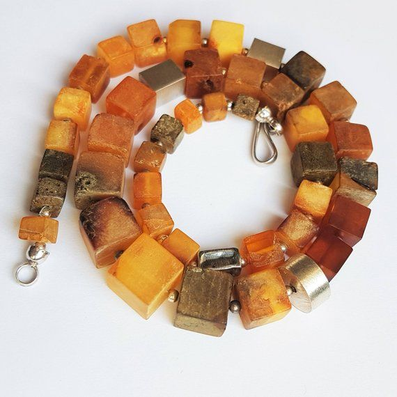 42g.Natural Baltic Amber Necklace, Genuine Amber, Not Modified Amber, Gift for H...