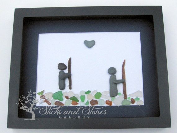 A thoughtful and unique gift for your surfer! Gift this unique pebble art design...
