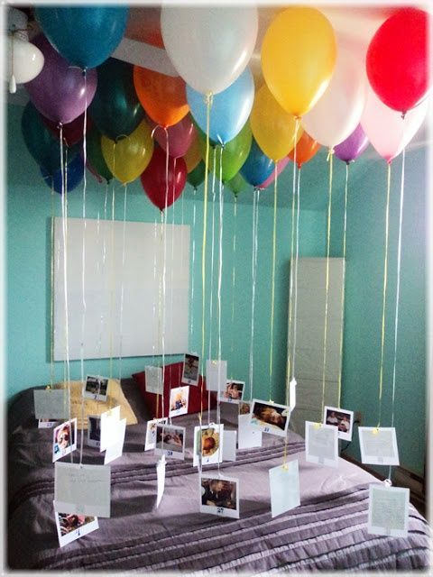 Balloon Memories- Grab some helium balloons and attach a photo and/or message to...