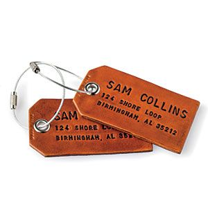 Christmas Gifts for Him   Rugged Luggage Tags   SouthernLiving.com