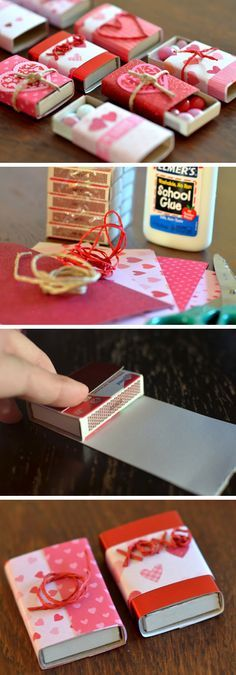 Cute Matchboxes with M&M Candies | DIY Valentine Gifts for Him | DIY Valentine G...