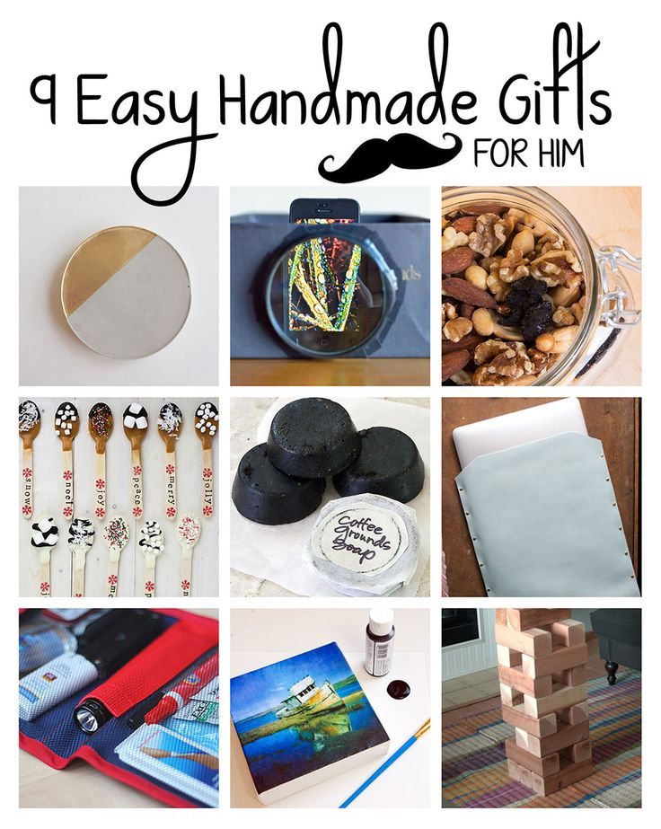DIY - 9 Easy Handmade Gifts for Him