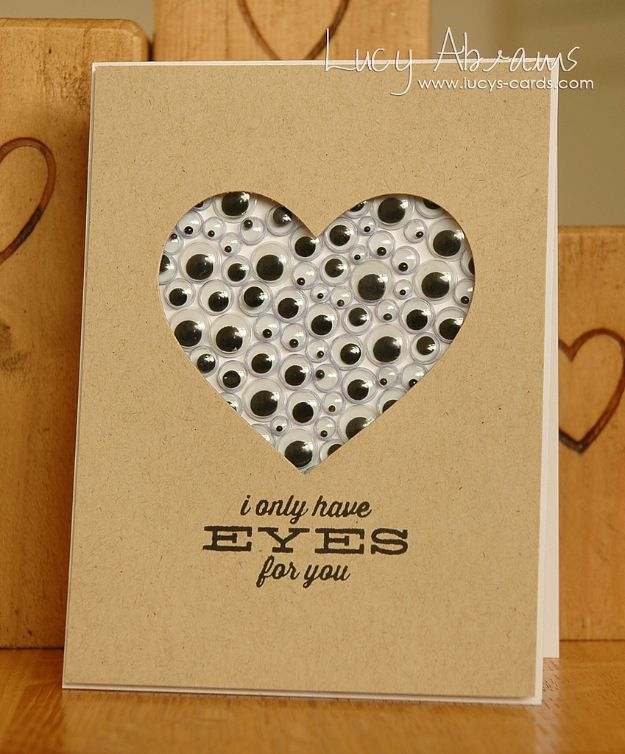 Gifts For Him Diy Valentines Day Cards Lots Of Eyes Valentine S