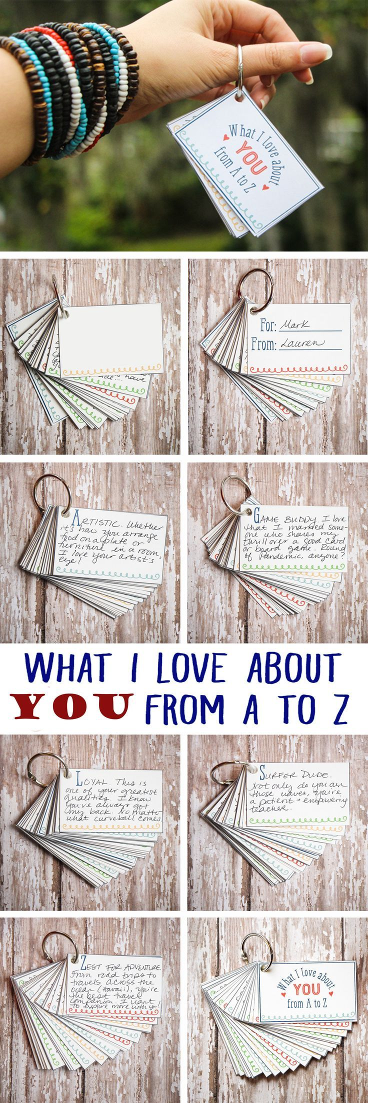 I Love About You from A to Z Mini-Book (Diy Geschenke Boyfriend)