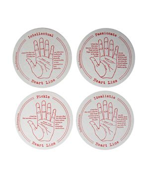 Palmistry Letterpress Coasters  To buy: $10 for four #gifts