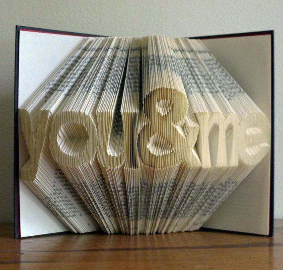 Plié livre Art Sculpture - papier anniversaire - premier 1er anniversaire-« vo...