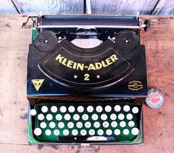 Typewriter Klein Adler 2 portable working typewriter 1925 1920s typewriter