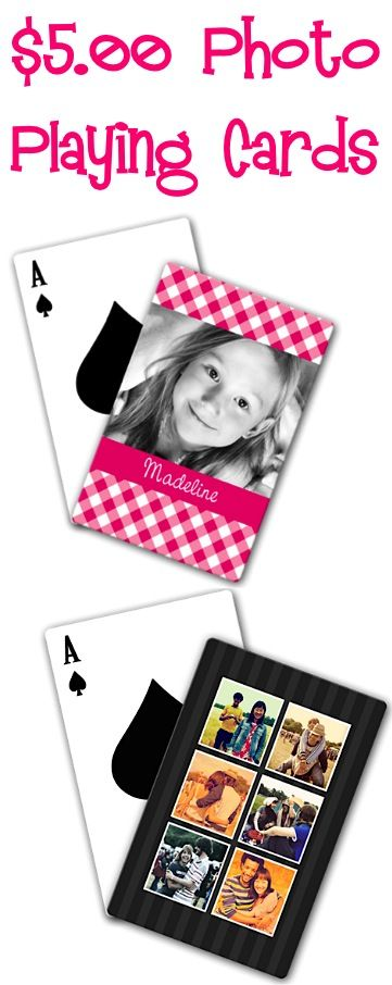 $5.00 Custom Photo Playing Cards Sale! {+ s/h} ~ these make the BEST gifts!!