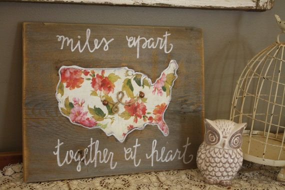 A cute reminder of a friend or family member far away, this hand painted custom ...