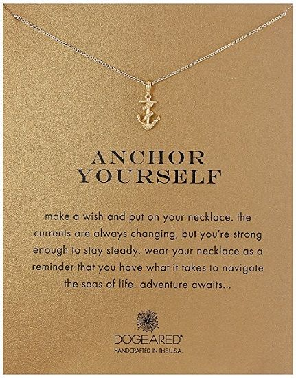 Dogeared Anchor Yourself Pendant Necklace. College Graduation Gifts for Daughter...