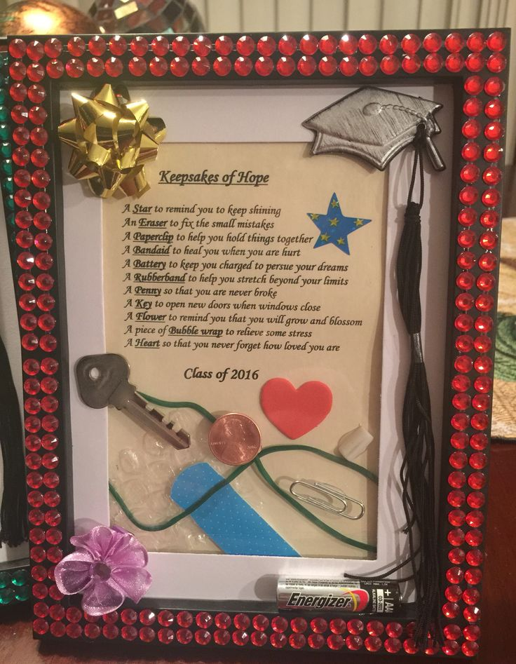 Graduation Gift. Keepsakes of hope! The perfect DIY graduation gift in a decorat...