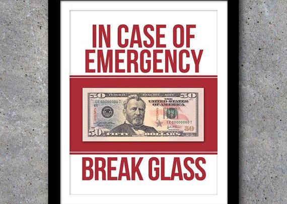 image relating to In Case of Emergency Break Glass Printable called Commencement Presents : Inside Circumstance of Crisis Crack Gl