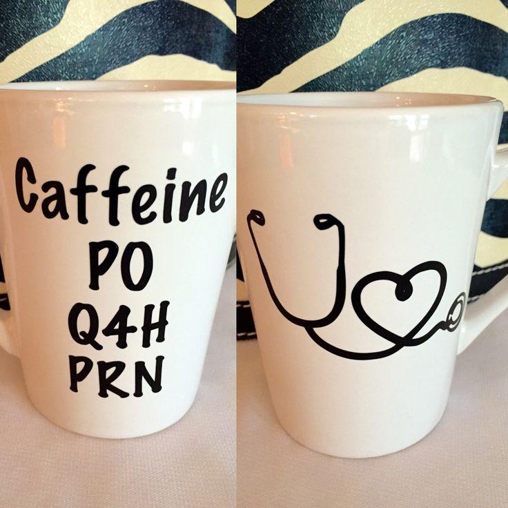 Medical Doctor Nurse coffee mug PO Q4H PRN Nursing School gift Nurse graduation ...