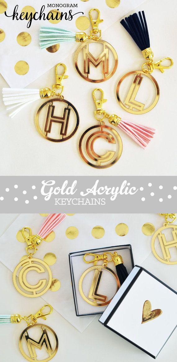 Graduation Gifts : Monogram Keychains