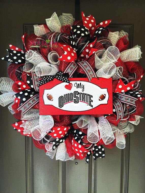 Ohio State Football Ohio State Wreath by WreathsandBowsOhMy
