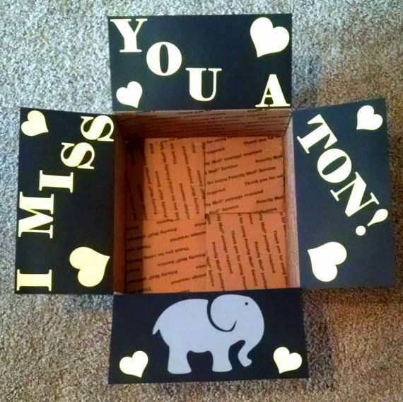 Care package box kit I miss you a ton by BekProductions on Etsy                 ...