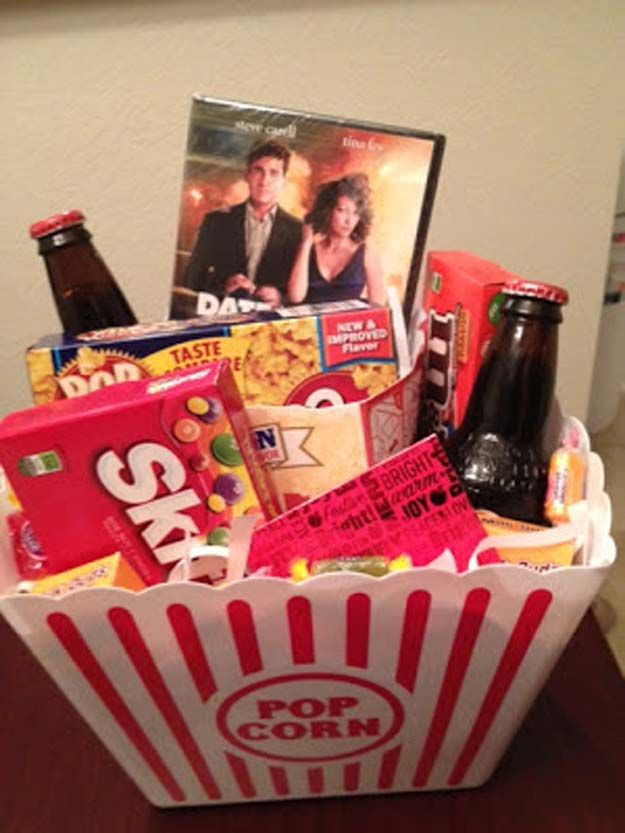 Basket Gifts Cool Diy Gifts To Make For Your Boyfriend