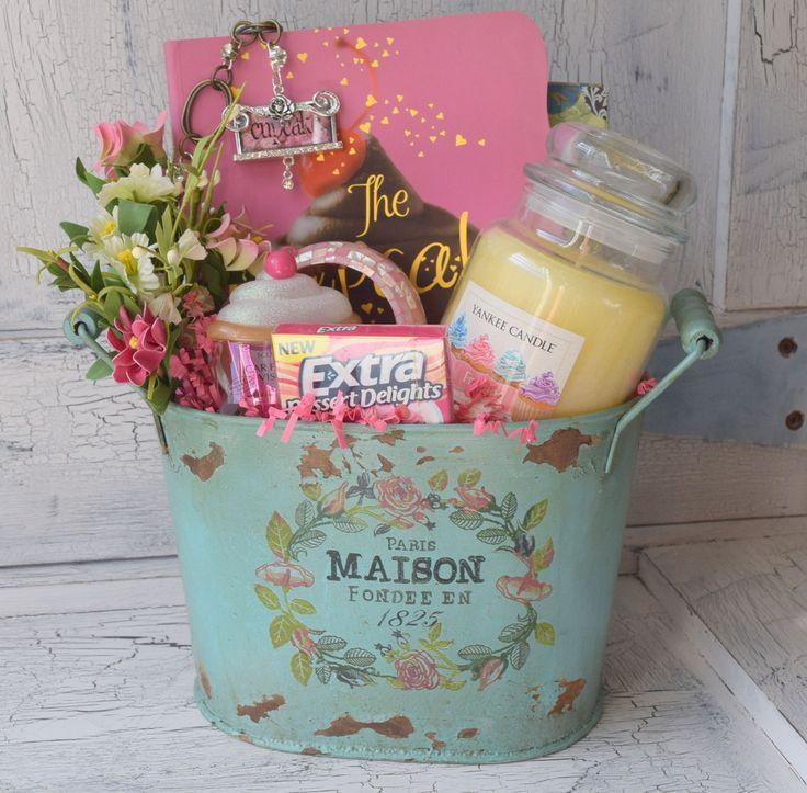Cupcake Gift Basket - Decorative Paris Maison Tin Bucket – Would look beautifu...