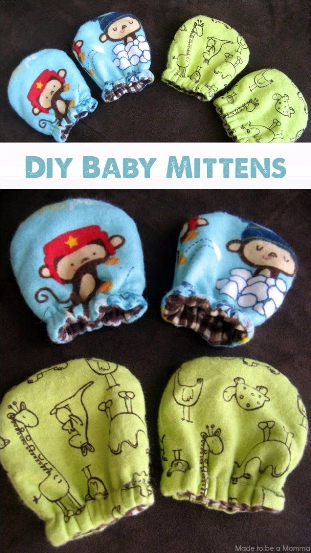 Basket Gifts Diy Baby Gifts Diy Baby Mittens Homemade Baby