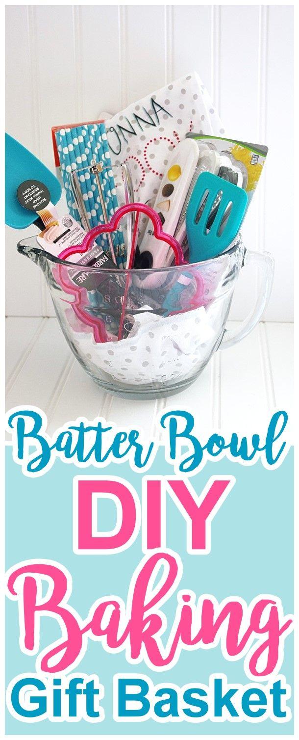 DIY Batter Bowl Baking Gift Basket Via Dreaming In