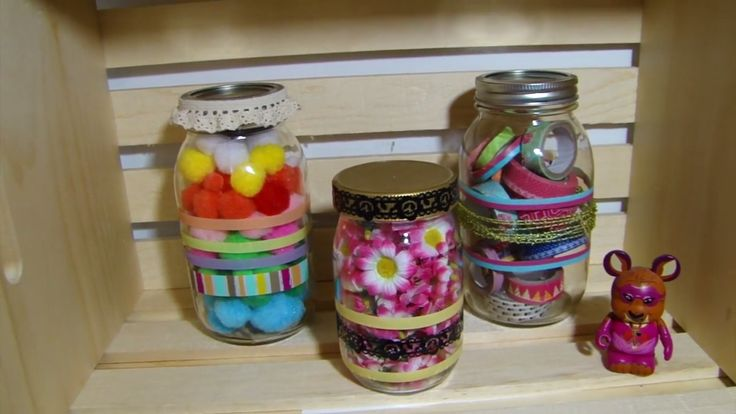 DIY Decorated Jar with Washi Tape