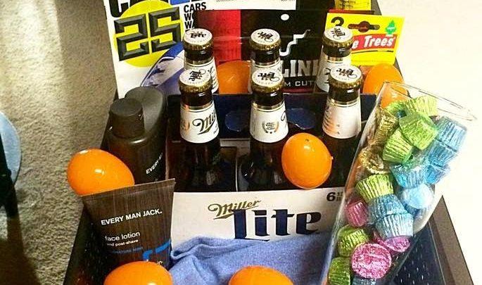 Basket Gifts Diy Easter Basket For Him Boyfriend Husband
