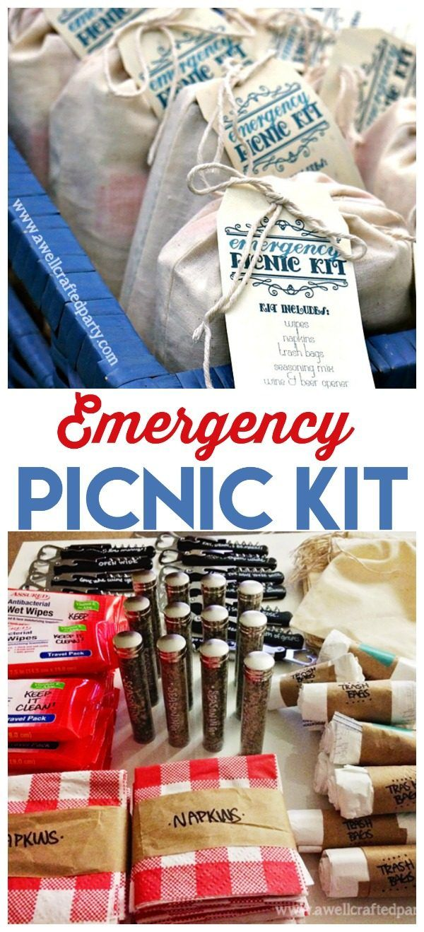 Basket Gifts Diy Emergency Picnic Kit Be Ready For Summer Fun At A Moments Notice Free Pri Giftsmaps Com Leading Gifts Ideas Unique Gifts Inspiration Magazine