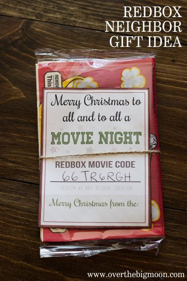 Did you know you can buy Redbox gift codes? This is such a great Neighbor Gift I...