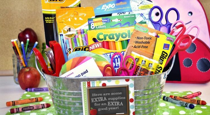 Basket Gifts Extra Supplies Back To School Gift Basket