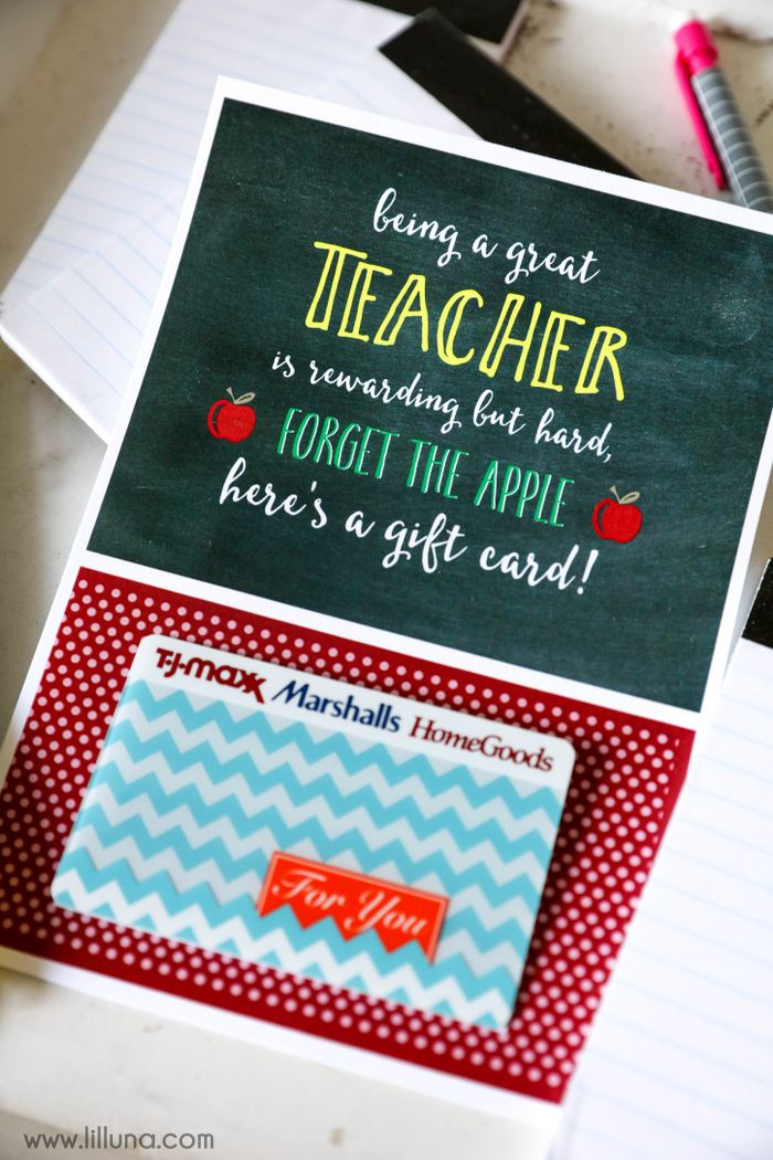 Teacher Gifts For Christmas.Basket Gifts Free Teacher Appreciation Gift Card Holder