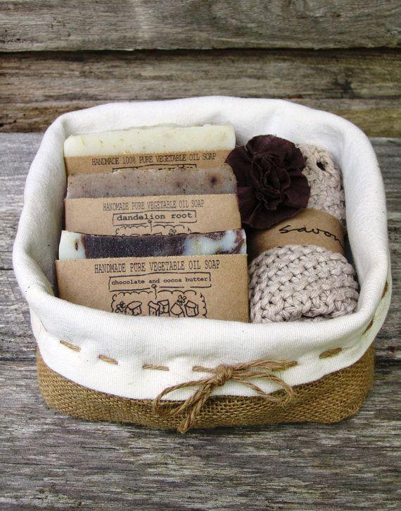 Gift Pack - gift basket, soap gift set , handmade soap, all natural soap, cold p...